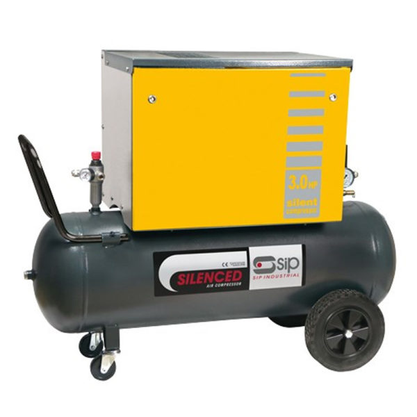 SIP B3800/3M/200 Silenced Piston Compressor for garages from Tyre Bay Direct.