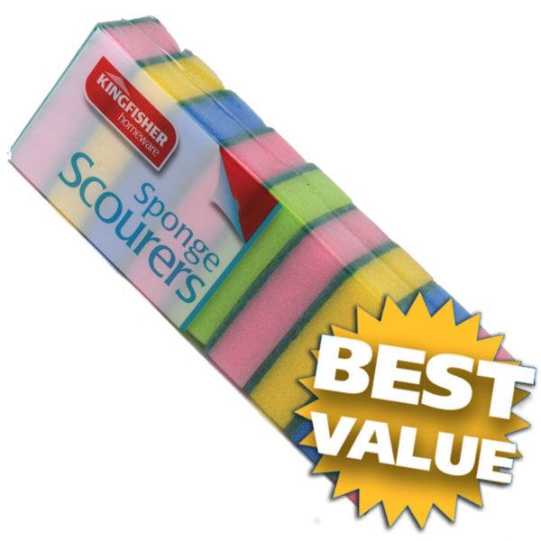 8 Pack sponge scourers