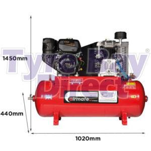 Airmate-Industrial-Super-ISKP7150-Compressor---7hp-Kohler-Engine-dimensions