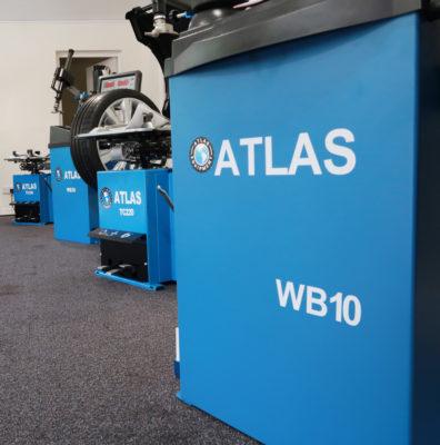 Atlas Equipment Range in the Tyre Bay Direct Showroom