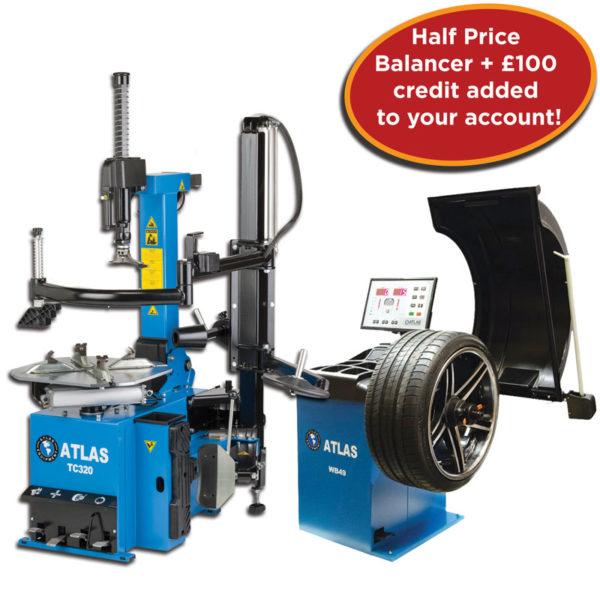 TC320 and half price WB49Pro wheel balancer