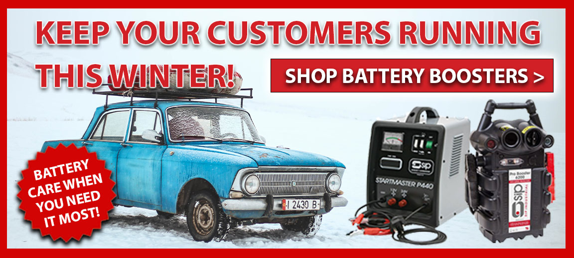 Battery Care when you need it most! Keep your customer's running with our Battery Boosters.