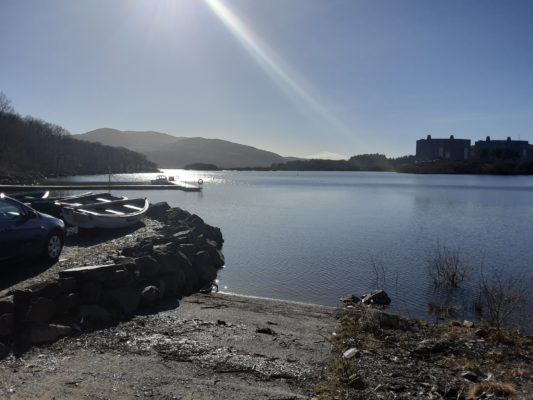 The amazing sunshine over Trawsfnydd Lake when the ISN Garage Assist went for an install in North Wales.