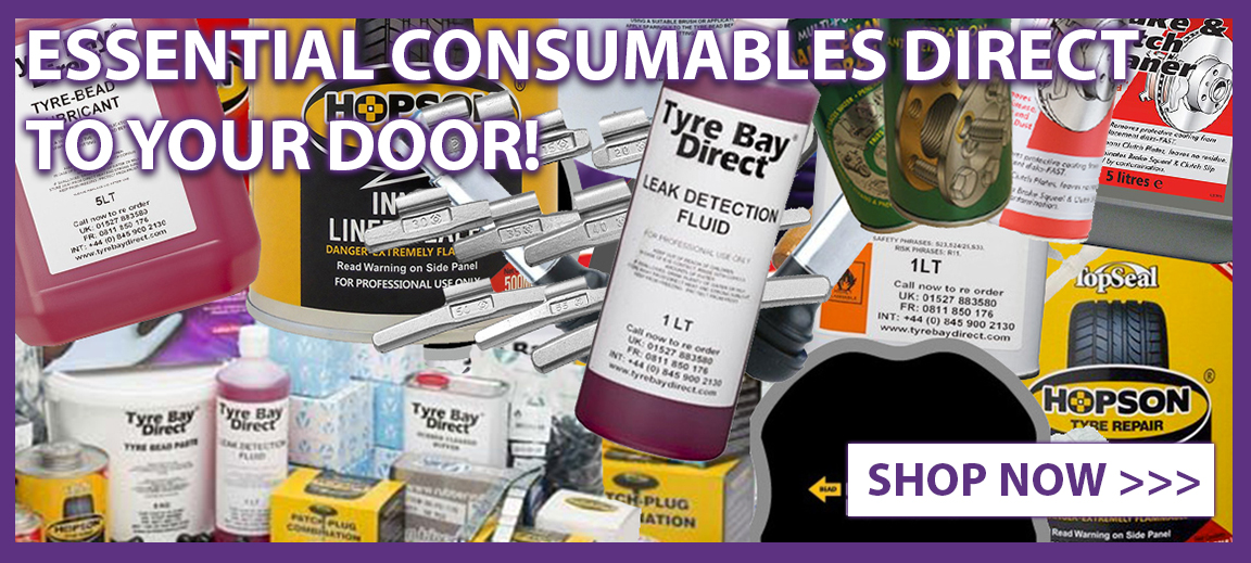 Join the online consumables revolution - shop your essential tyre consumables online at Tyre Bay Direct today and save on our bulk buy offers!