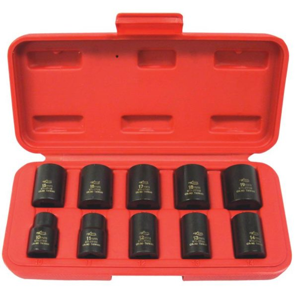 10pc Impact Standard Metric Socket Set 3/8 Drive from Tyre Bay Direct