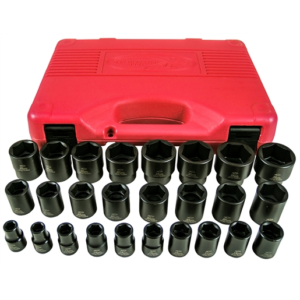 26pc Impact Standard Metric Socket Set 1/2 Drive
