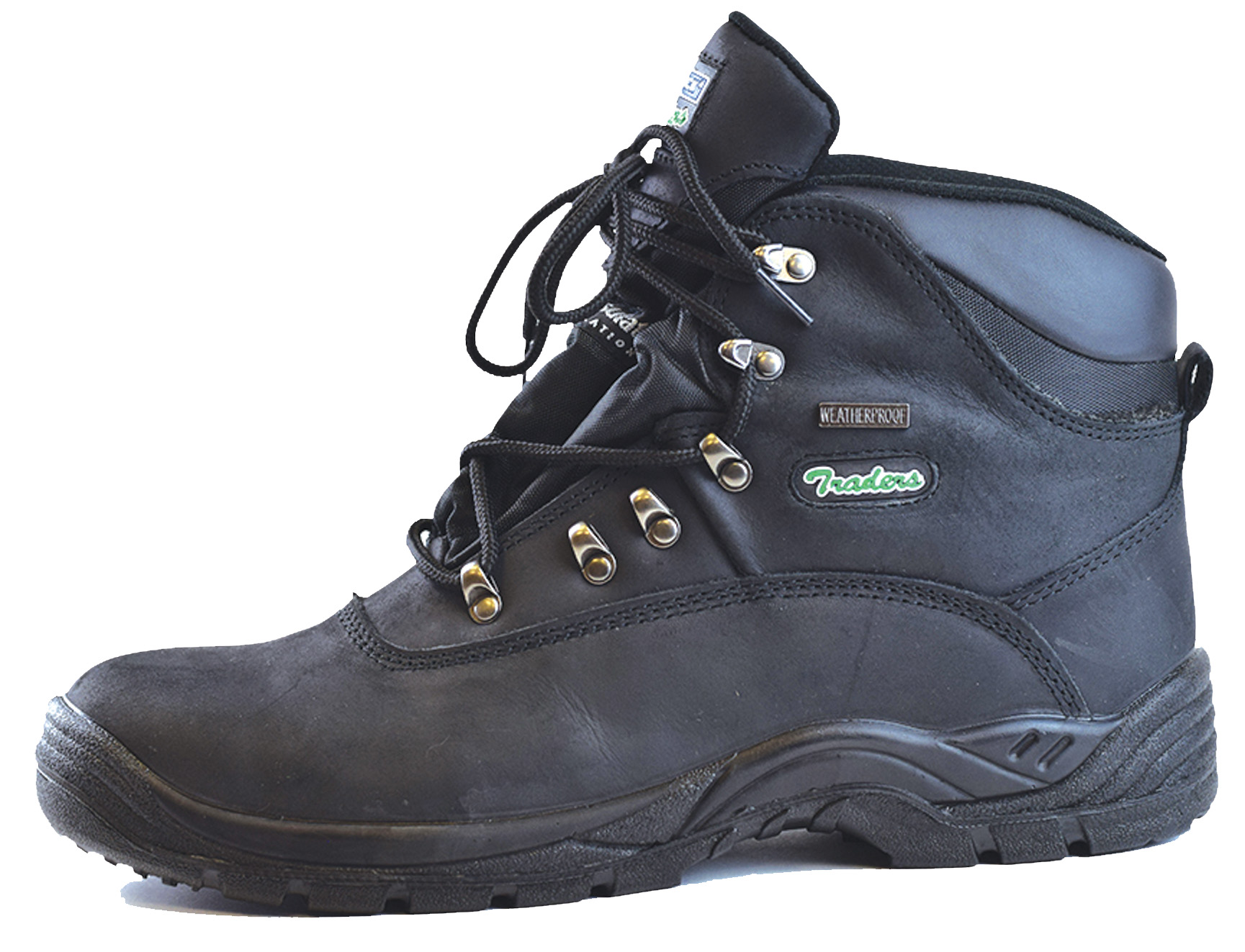 Steel stylish toe cap shoes photo