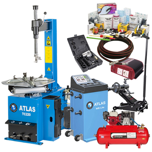 Discover the Atlas Mobile Tyre Fitting Package now with the popular TC220 tyre changer.