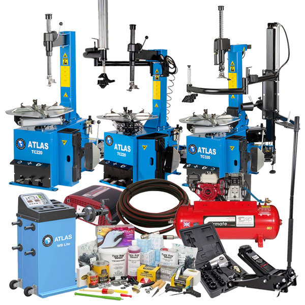 Discover the Atlas Mobile Tyre Fitting Package available with three different tyre changer models from the Atlas Equipment range.