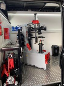 TQ1's super high spec tyre fitting van with Atlas Platinum equipment