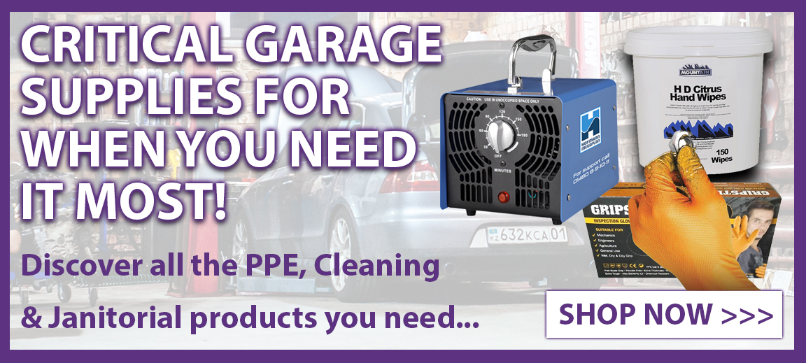 PPE & Janitorial garage supplies supplied by Tyre Bay Direct for when you need it most.