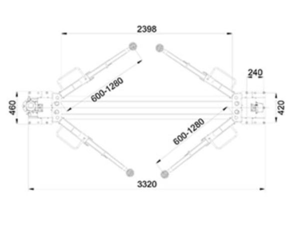 PVL3500 2 post lift dimensions
