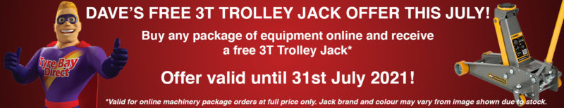 Buy any package of equipment and receive a FREE 3T Trolley Jack with your order!