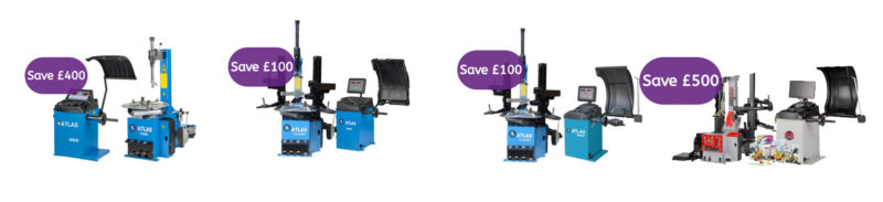 Why buy a tyre machine package - package examples with savings