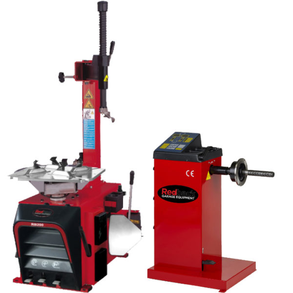 Redback Semi Automatic Tyre Changer and Manual Input Wheel Balancer