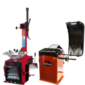 Semi Automatic Tyre Changer and Motorised Wheel Balancer