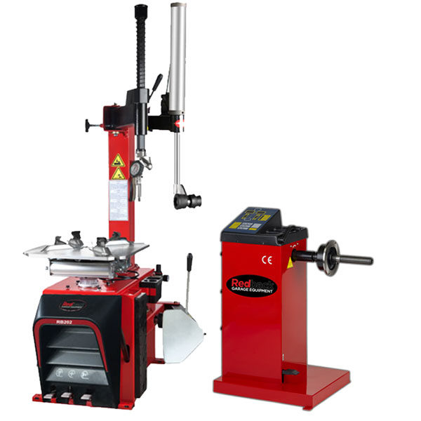 Tyre Changer with assist arm and 109 handspin balancer