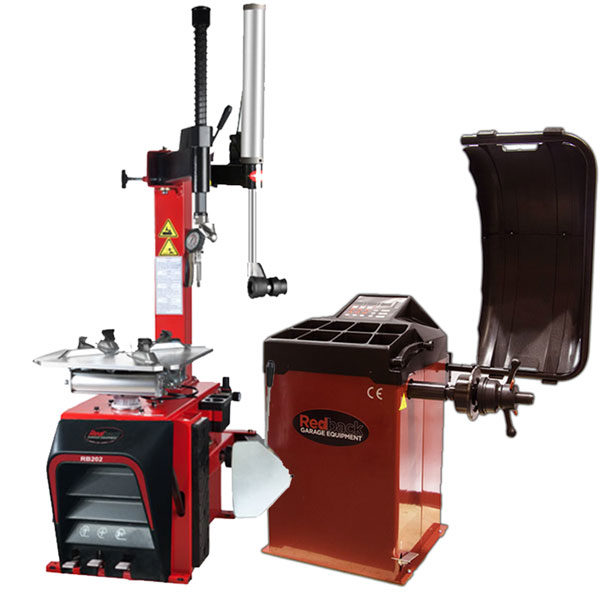 Tyre Changer with assist arm and RB825 Wheel Balancer
