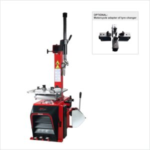 RB202 tyre changer with optional motorcycle adapter