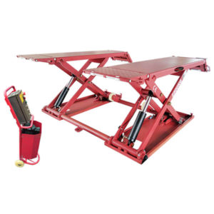 Discover the RB2500 Car Scissor Lift - the perfect garage companion for all your portable vehicle lifting needs.