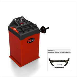 RB800 wheel balancer with motorcycle adapter