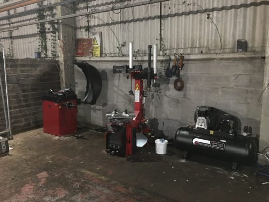 The ISN Garage Assist team crossed over the border to complete the full installation of garage equipment.