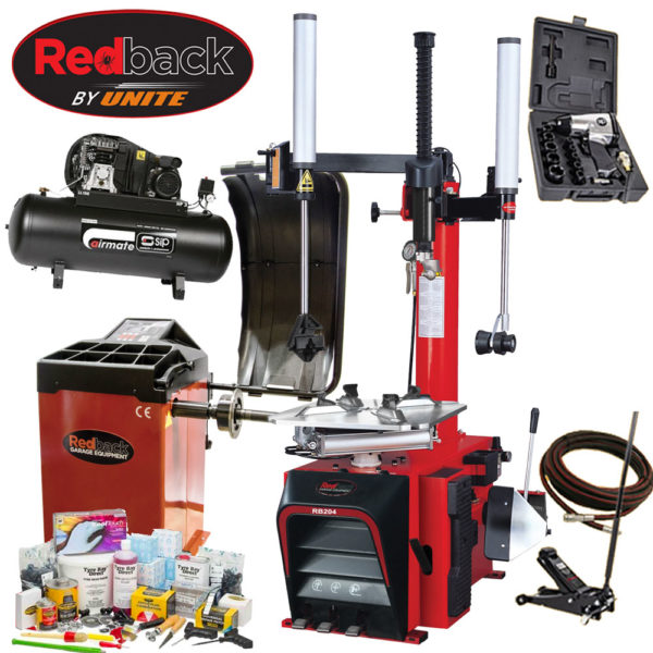 Redback Complete Start Package 2 for garages from Tyre Bay Direct.