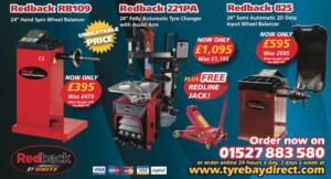 Redback Tyre changer and wheel balancer October offer