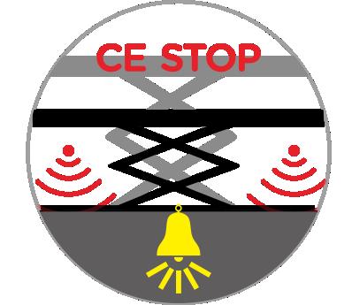 Safety descending stop & alarm