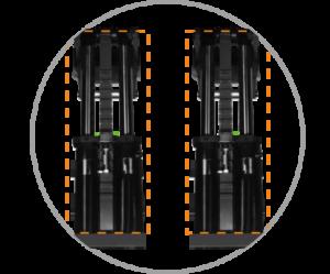 Synchronised hydraulic cylinders system