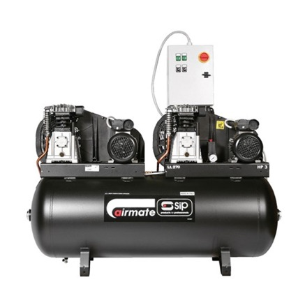 Airmate B3800/270 Oil Lubricated Tandem Compressor 230v