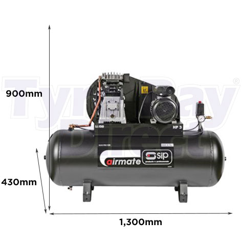 PX3/150-SRB Air Compressor dimensions