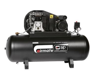 SIP Airmate TN3/150-SRB Belt Drive Oil Lubricated Air Compressor