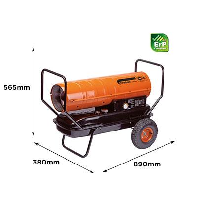 SIP Fireball 125XD Diesel/Paraffin Space Heater [SIP 09566]