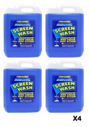 Polygard Screenwash Concentrate 5L (Pack of 4)