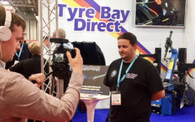 Ant from Tyre Bay Direct at Automechanika interview with Garage Wire
