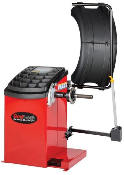 "TBDRB840 - Redback 840 24"" Lcd Fully Automatic Motorised Wheel Balancer W/ 3rd Ruler & Brake Pedal"