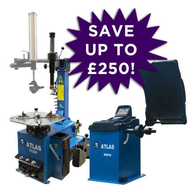 Atlas WB10 Wheel Balancer launch bundle with TC220 Tyre Changer