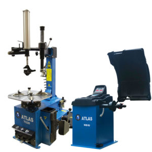 Atlas WB10 Wheel Balancer launch bundle with TC220 Tyre Changer with assist arm