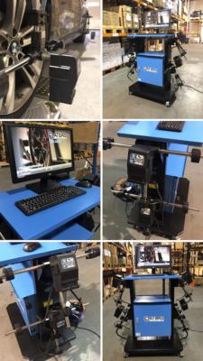 WA40 machine wheel aligner collage