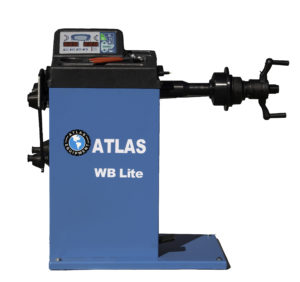 With no lowering hood, the Atlas WB Lite manual wheel balancer is an ideal choice for those with limited working space.
