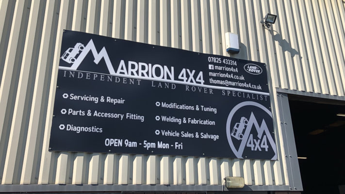 Marrion 4x4 sign