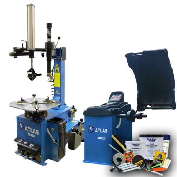 Atlas Workshop Tyre Fitting Package Tyre Changer Balancer and consumables