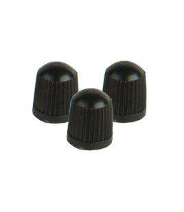 VC8BL- - Black Plastic Caps Qty 100
