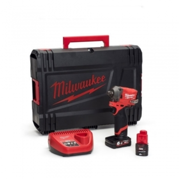 Milwaukee M12FIWF12-622X 12v 1x6.0/2.0Ah Li-ion 1/2in Impact Wrench