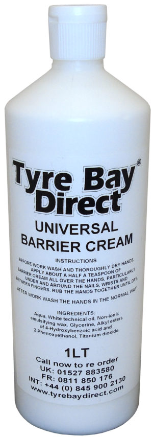 Barrier cream hand protection