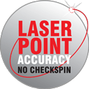 Laser point wheel balancing accuracy