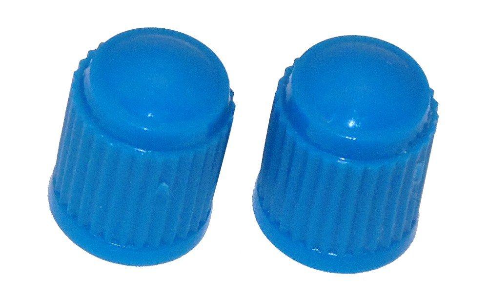 Light blue plastic caps qty