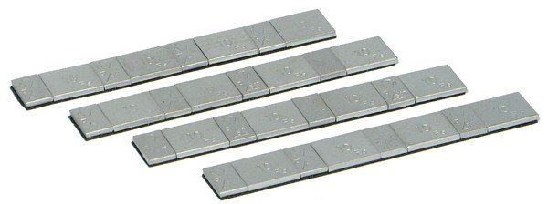 TBDA02RFE - High Quality Zinc Coated Adhesive Weight Strips 5g and 10g Sections - Matte Finish
