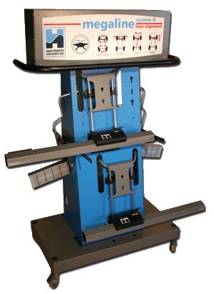 megaline system 4W laser wheel aligner facing right